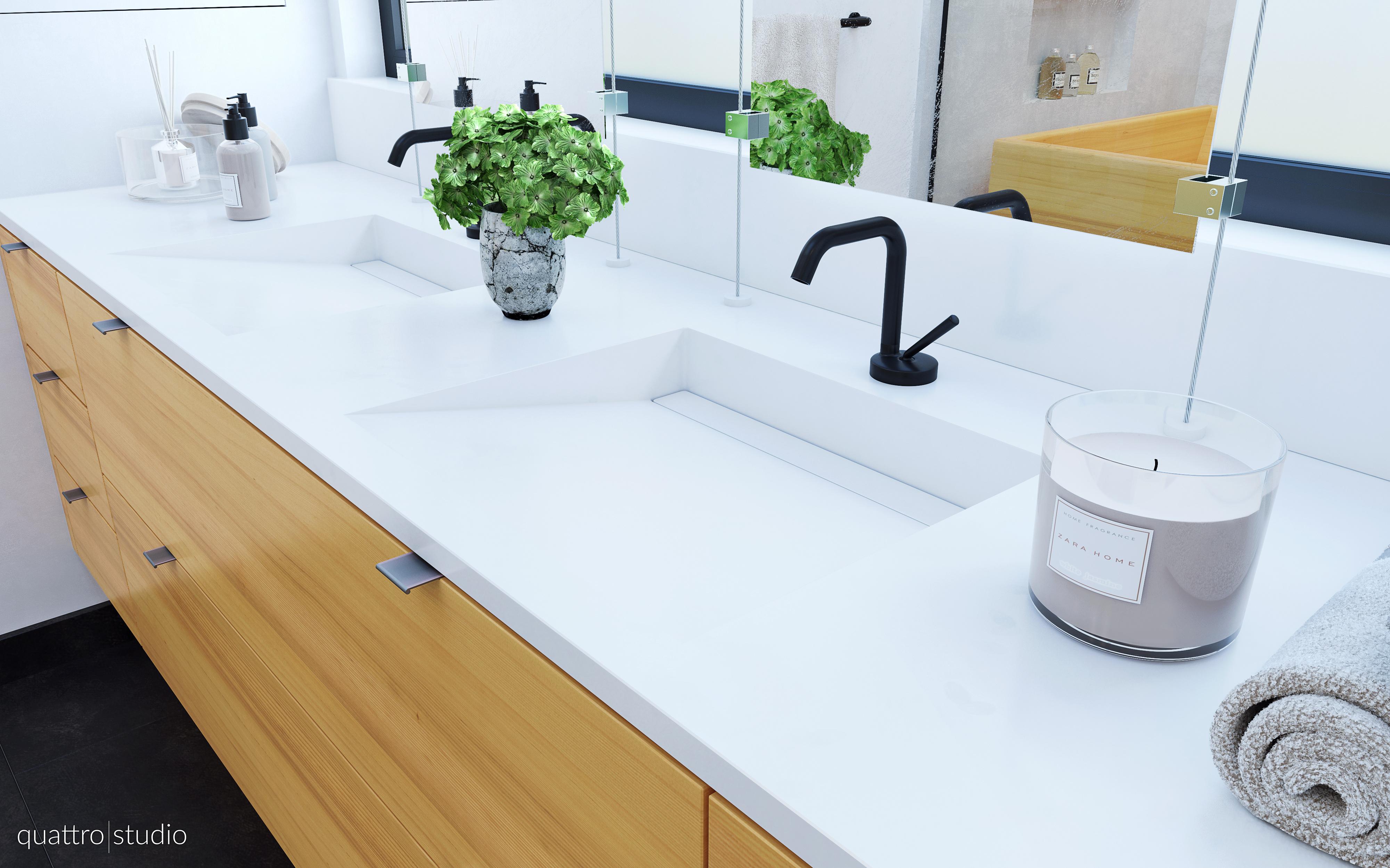 Contemporary Japanese Style Bathroom – Quattro Studio