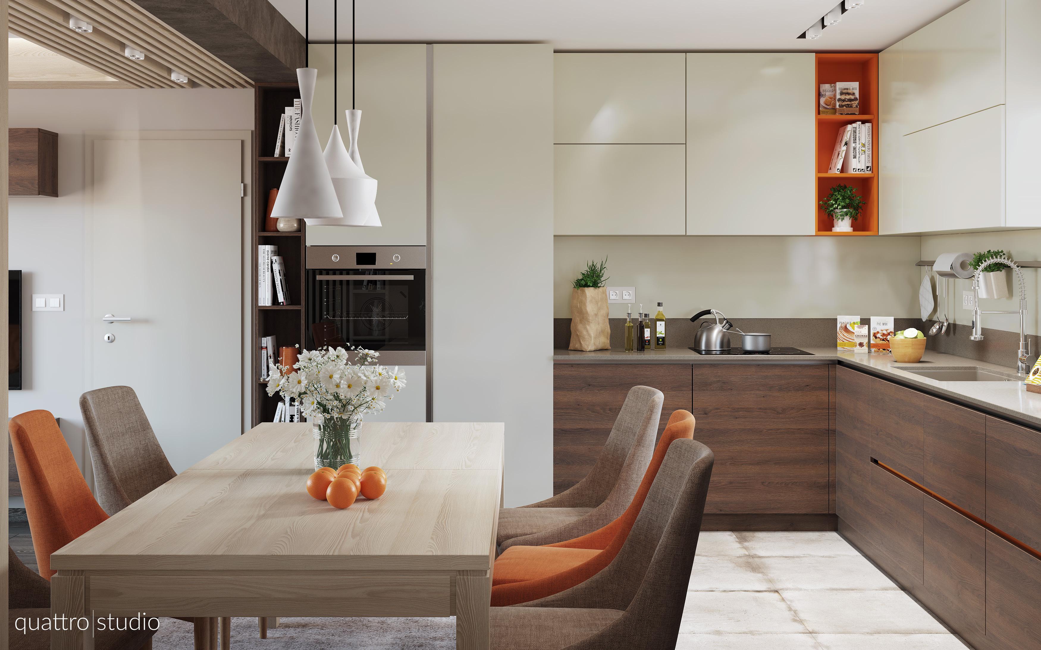 Interior design of apartment 90m2 quattro studio for 90m2 apartment plans