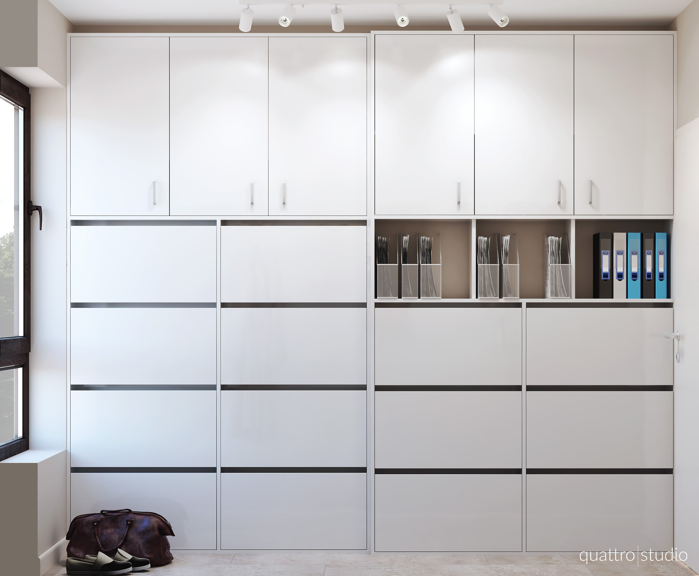 Interior design of apartment 90m2 the closet quattro for Apartment design 90m2