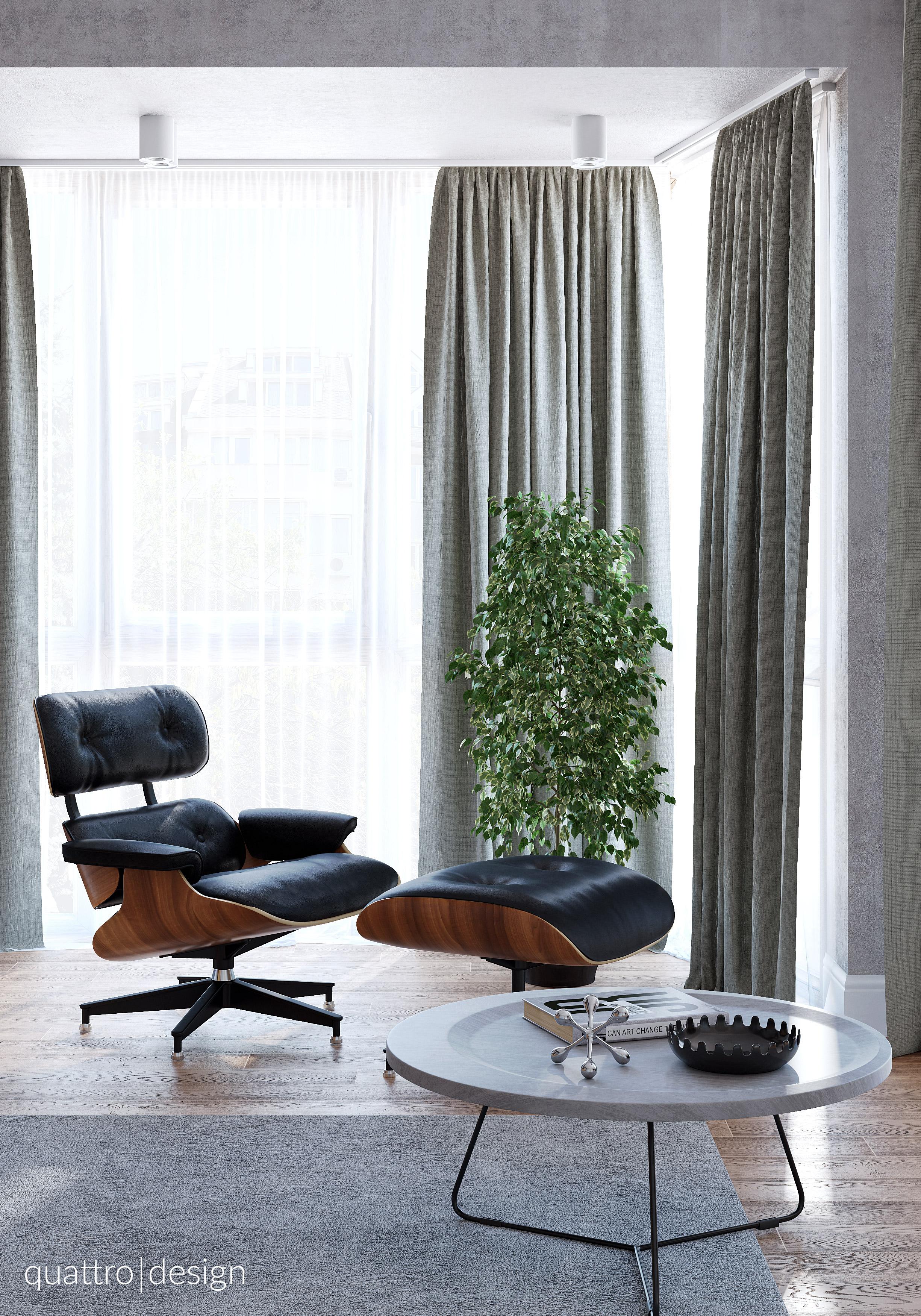 Contemporary Loft. Interior Design Of Apartment